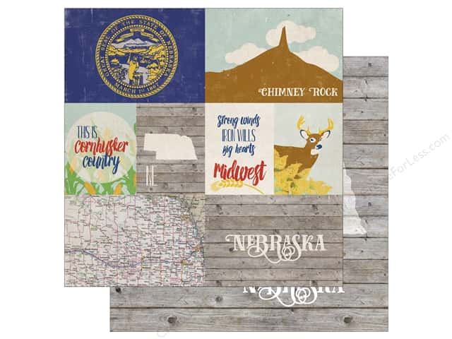 Echo Park 12 x 12 in. Paper Stateside Nebraska (25 sheets)