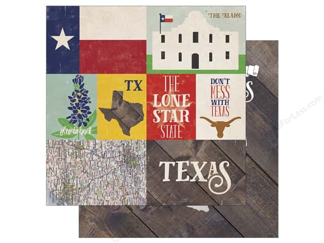 Echo Park 12 x 12 in. Paper Stateside Texas (25 sheets)