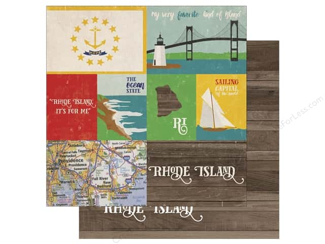 Echo Park 12 x 12 in. Paper Stateside Rhode Island (25 sheets)