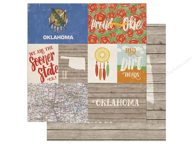 Echo Park 12 x 12 in. Paper Stateside Oklahoma (25 sheets)