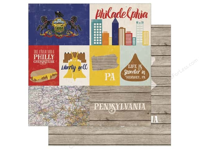 Echo Park 12 x 12 in. Paper Stateside Pennsylvania (25 sheets)