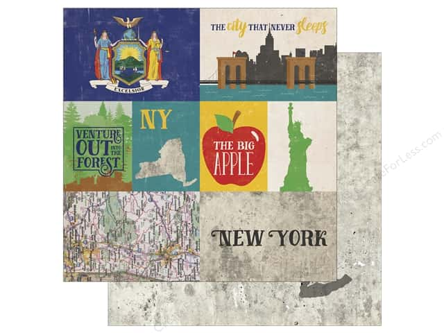 Echo Park 12 x 12 in. Paper Stateside New York (25 sheets)