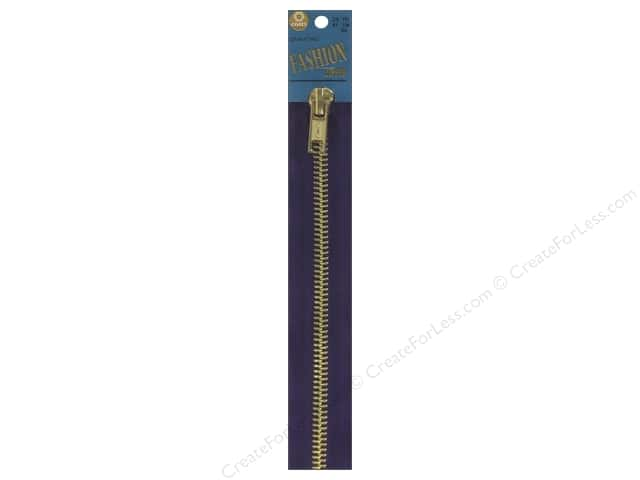 Coats Fashion Brass Separating Zipper 24 in. Purple