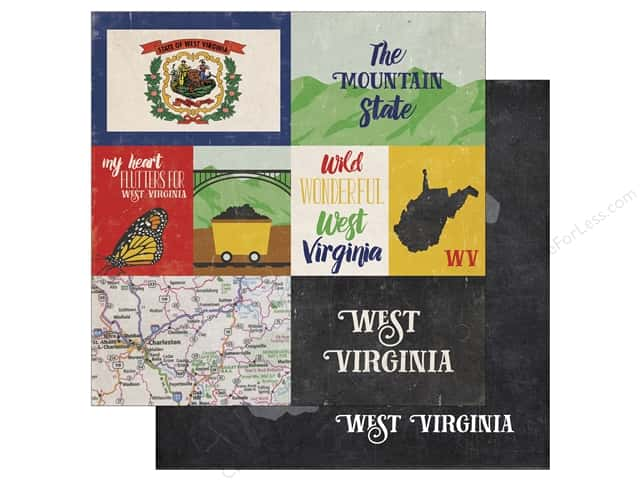 Echo Park 12 x 12 in. Paper Stateside West Virginia (25 sheets)