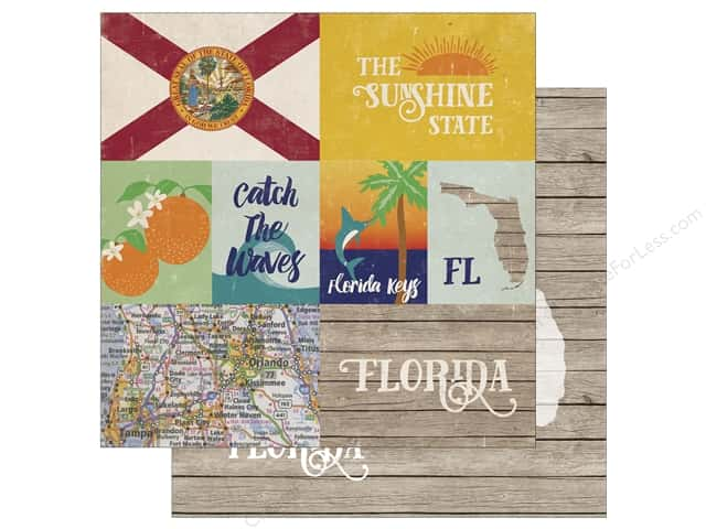 Echo Park 12 x 12 in. Paper Stateside Florida (25 sheets)
