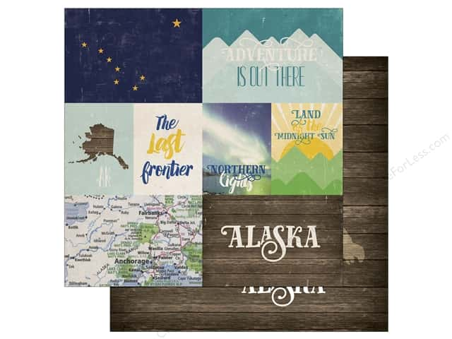 Echo Park 12 x 12 in. Paper Stateside Alaska (25 sheets)