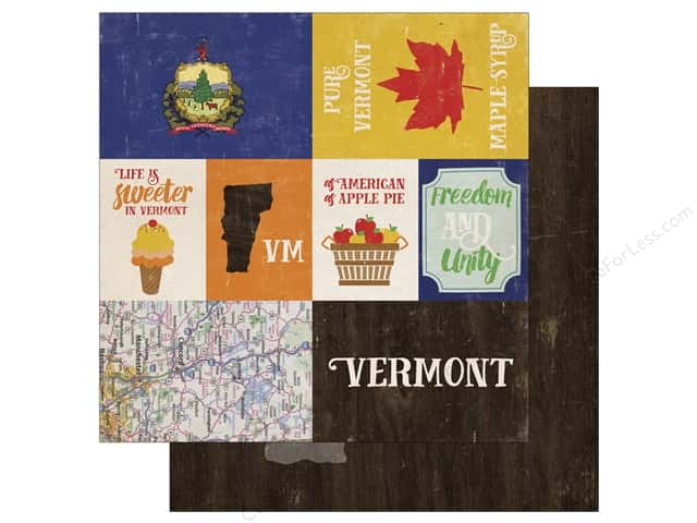Echo Park 12 x 12 in. Paper Stateside Vermont (25 sheets)