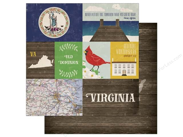 Echo Park 12 x 12 in. Paper Stateside Virginia (25 sheets)