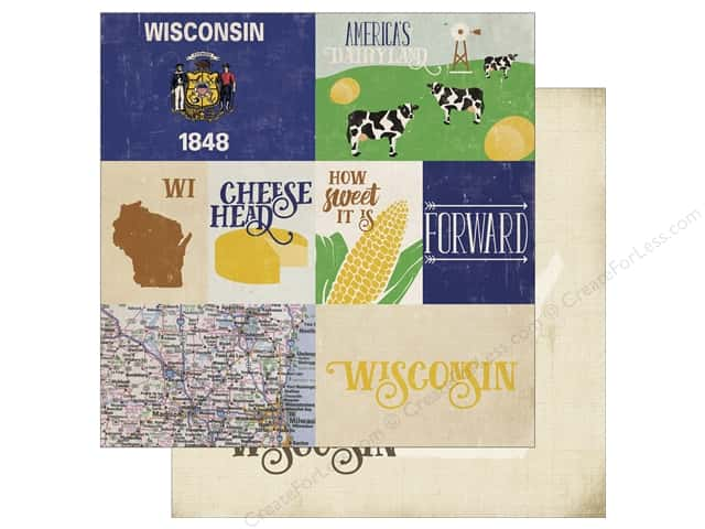 Echo Park 12 x 12 in. Paper Stateside Wisconsin (25 sheets)