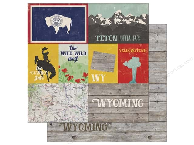 Echo Park 12 x 12 in. Paper Stateside Wyoming (25 sheets)