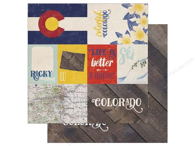 Echo Park 12 x 12 in. Paper Stateside Colorado (25 sheets)