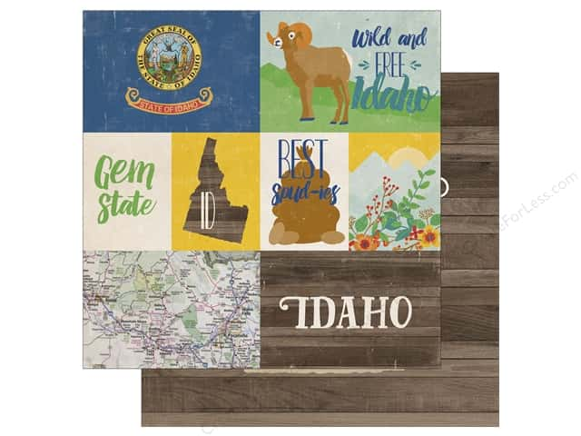 Echo Park 12 x 12 in. Paper Stateside Idaho (25 sheets)