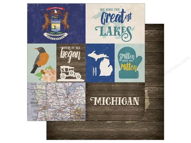 Echo Park 12 x 12 in. Paper Stateside Michigan (25 sheets)