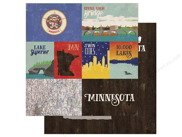 Echo Park 12 x 12 in. Paper Stateside Minnesota (25 sheets)