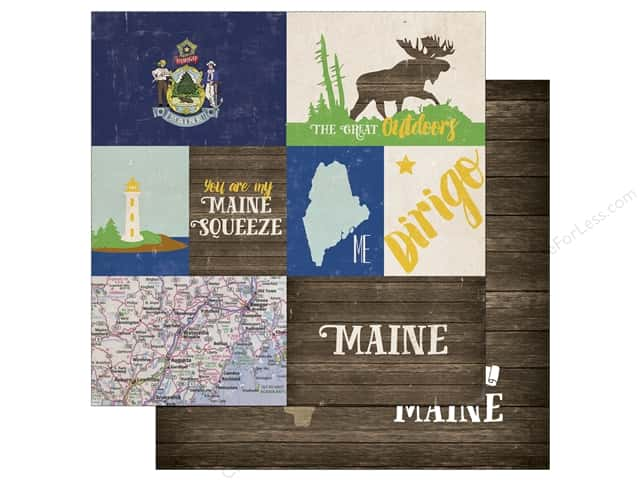 Echo Park 12 x 12 in. Paper Stateside Maine (25 sheets)