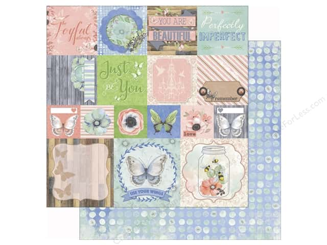Bo Bunny 12 x 12 in. Paper Butterfly Kisses Collection Delight (25 sheets)