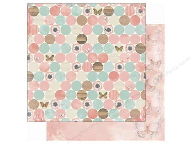 Bo Bunny 12 x 12 in. Paper Butterfly Kisses Collection Bliss (25 sheets)