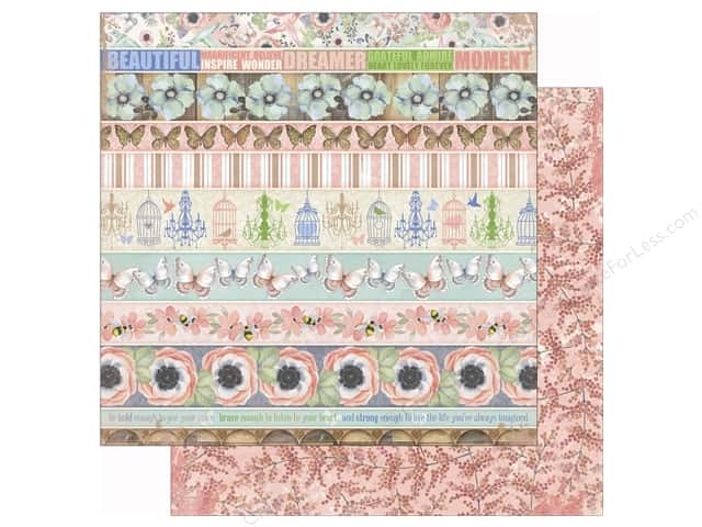 Bo Bunny 12 x 12 in. Paper Butterfly Kisses Collection Sunlit (25 sheets)