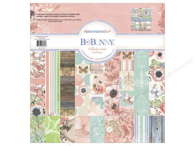 Bo Bunny 12 x 12 in. Collection Pack Butterfly Kisses