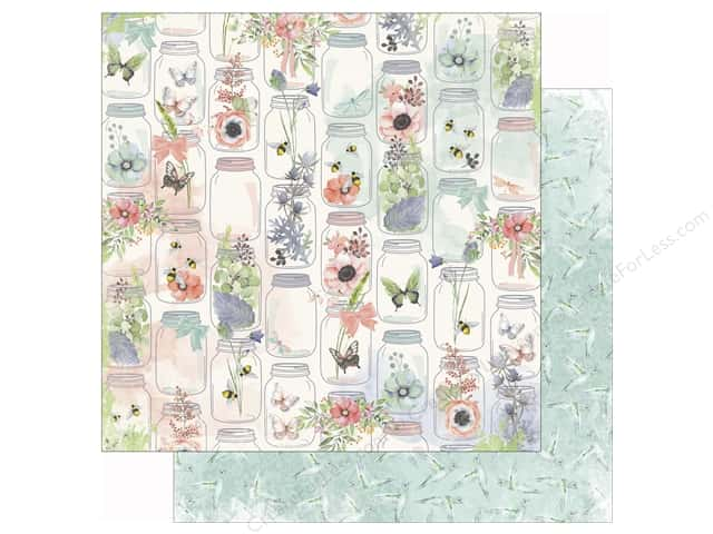 Bo Bunny 12 x 12 in. Paper Butterfly Kisses Collection Joy (25 sheets)