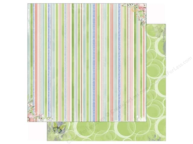Bo Bunny 12 x 12 in. Paper Butterfly Kisses Collection Lush (25 sheets)