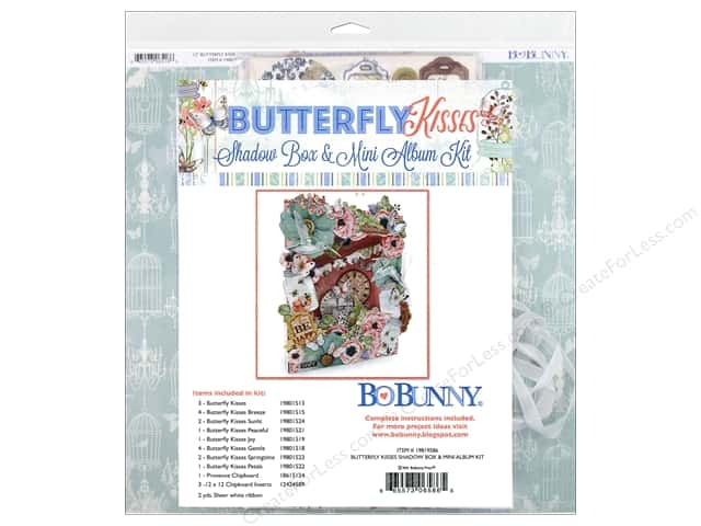 Bo Bunny Butterfly Kisses Shadow Box & Mini Album Kit