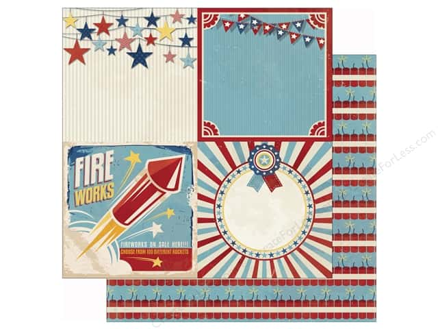 Bo Bunny 12 x 12 in. Paper Firecracker Parade (25 sheets)