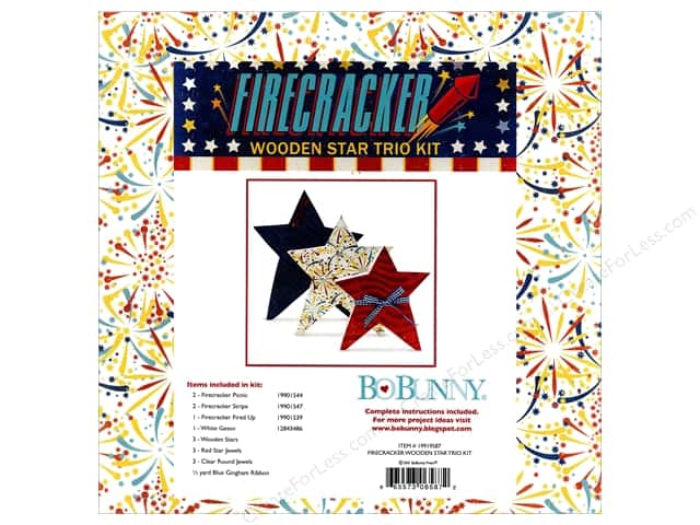 Bo Bunny Project Kit Firecracker Wooden Star Trio