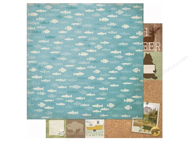 Bo Bunny 12 x 12 in. Paper Take A Hike Fishing (25 sheets)