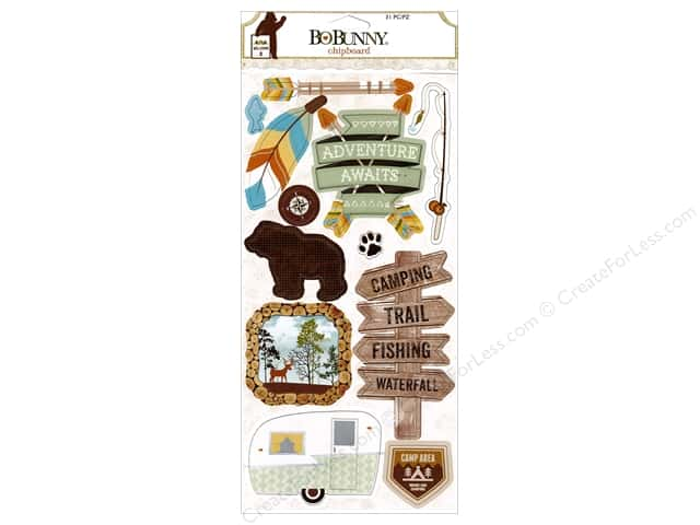 Bo Bunny Chipboard Take A Hike