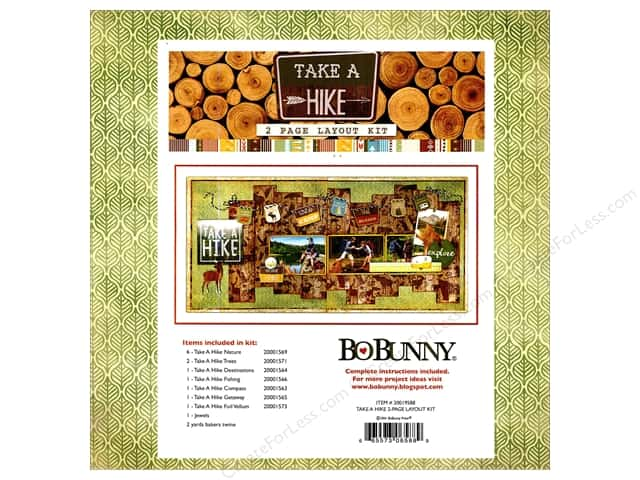 Bo Bunny Project Kit Take A Hike 2 Page Layout Kit