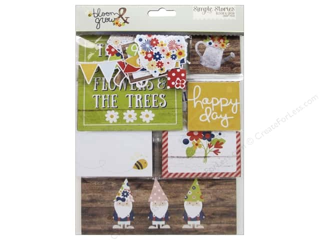 Simple Stories Collection Bloom & Grow Snap Pack