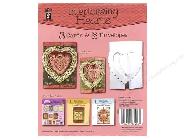Hot Off The Press Card Kit Interlocking Hearts