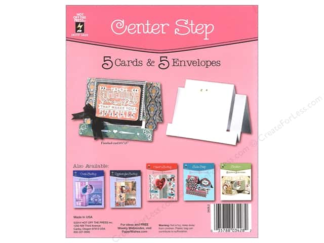 Hot Off The Press Card Kit Center Step