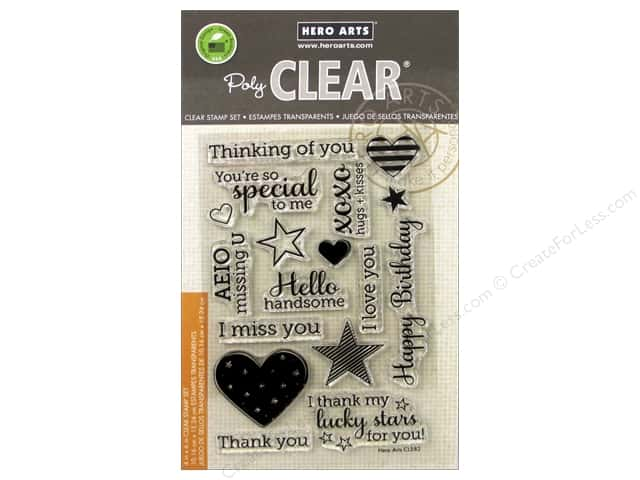 Hero Arts Poly Clear Stamps Year Round Sentiments