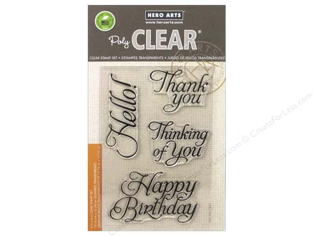 Hero Arts Poly Clear Stamps Fancy Basics