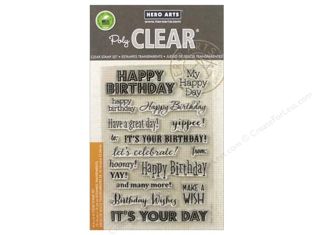 Hero Arts Poly Clear Stamps It's Your Day