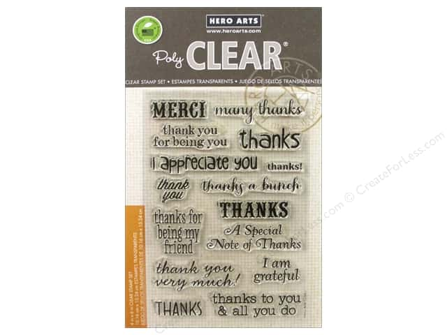 Hero Arts Poly Clear Stamps Thanks A Bunch