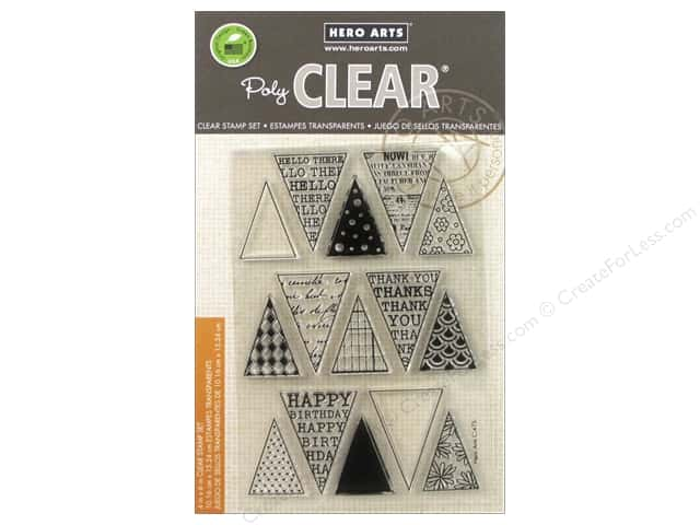 Hero Arts Poly Clear Stamps Friendly Flags