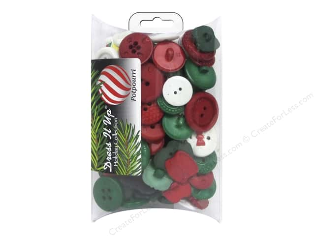 Jesse James Dress It Up Embellishments Grab Bag Christmas