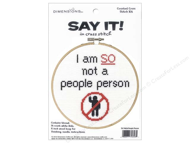 Dimensions Cross Stitch Kit Say It! People Person