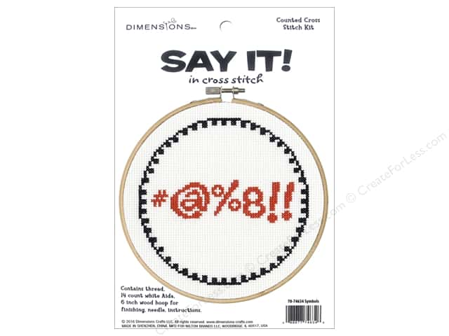 Dimensions Counted Cross Stitch Kit 6 in. Say It! Symbols