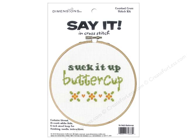 Dimensions Cross Stitch Kit Say It! Buttercup