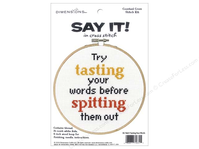 Dimensions Cross Stitch Kit Say It! Tasting Your Words
