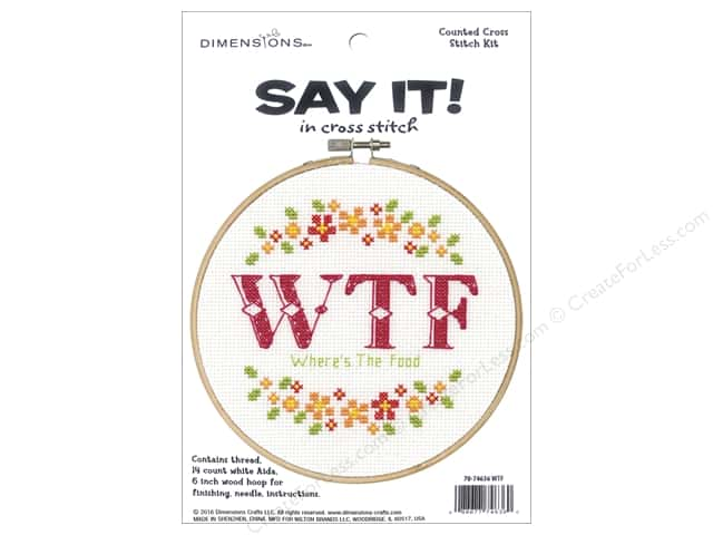 Dimensions Cross Stitch Kit Say It! Where's The Food