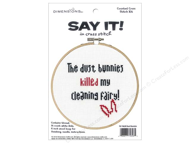 Dimensions Cross Stitch Kit Say It! Dust Bunnies