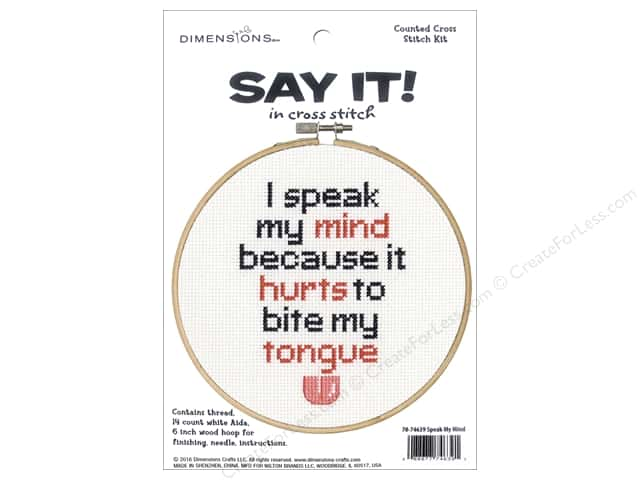 Dimensions Cross Stitch Kit Say It! Speak My Mind