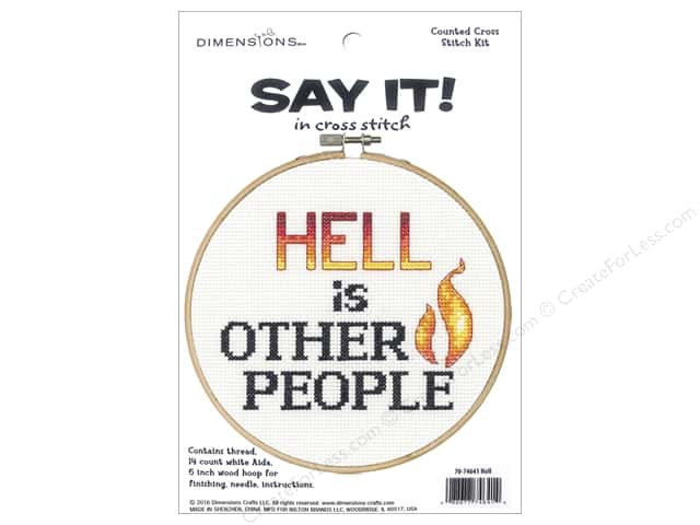 Dimensions Cross Stitch Kit Say It! Other People