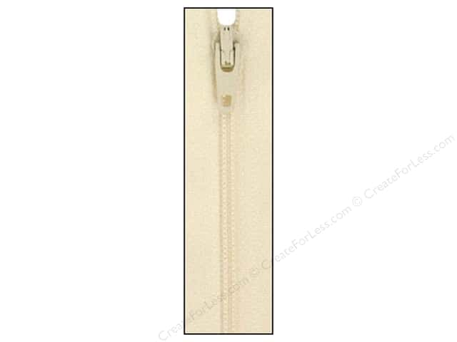 Atkinson Designs Zipper by YKK 22 in. Creamy