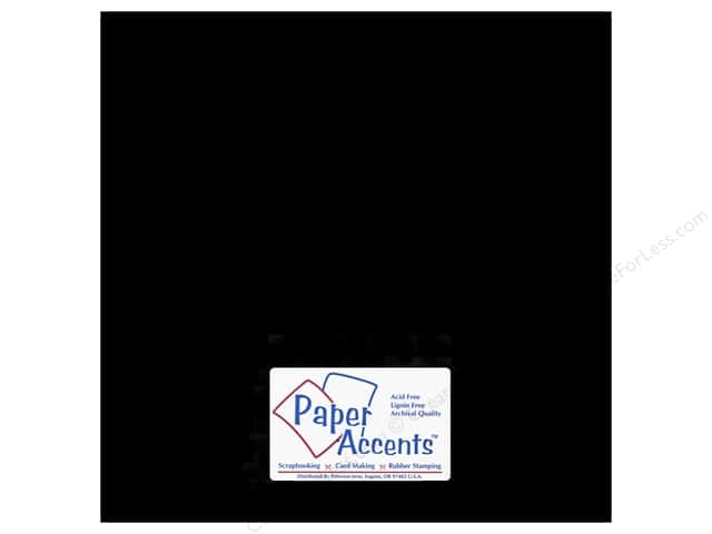 Paper Accents Chipboard 12 x 12 in. 90 pt. 2X Heavy Black 2 pc.